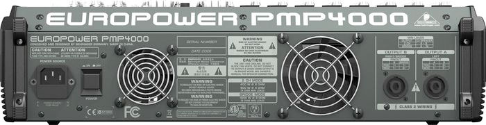 Behringer EUROPOWER PMP4000 Rear View