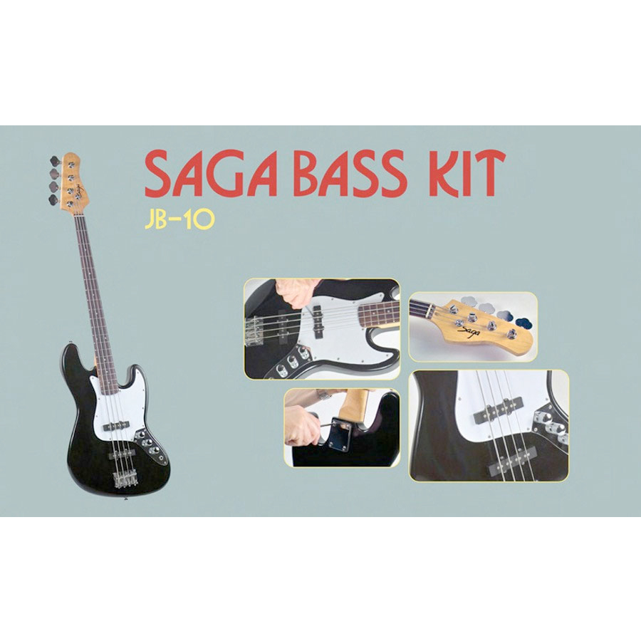 Saga JB-10 Electric Bass Kit View 2
