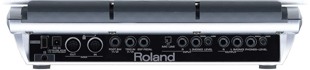 Roland SPD-S Rear View