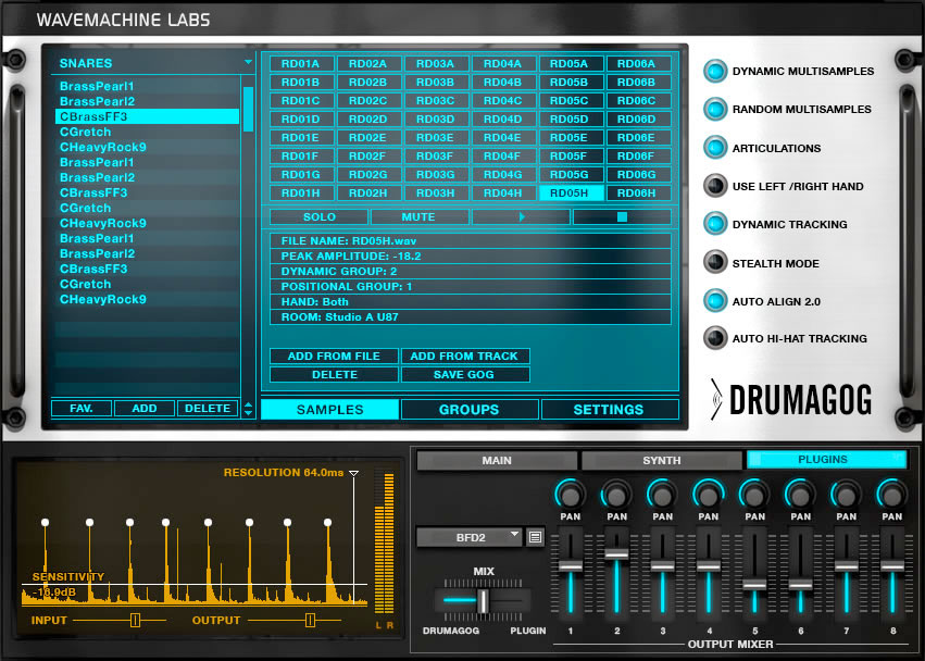 Wave Machine Labs Drumagog 5 Pro Screenshot 2