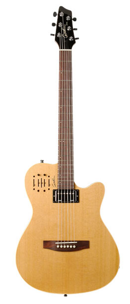 Godin A6 Ultra Semi-gloss Semi-Acoustic-Electric Guitar Natural