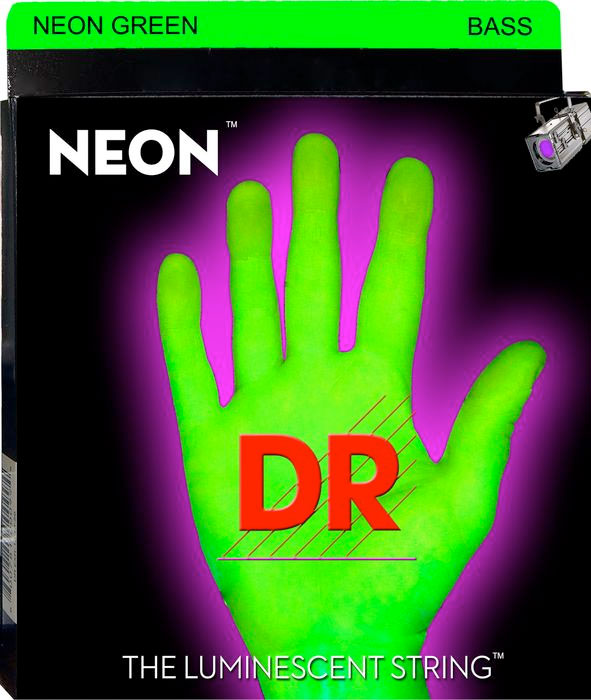 NGB Neon Phosphorescent Bass Strings - Green
