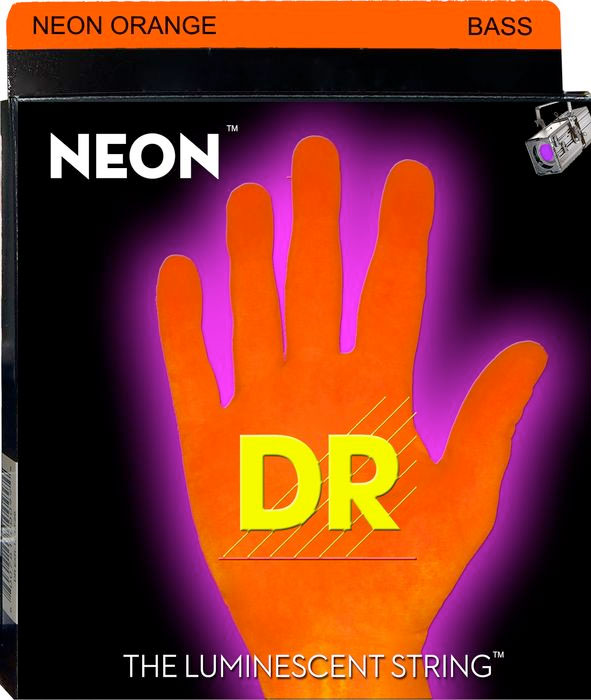 NOB Neon Phosphorescent Bass Strings - Orange