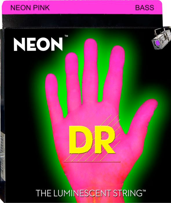 NPB Neon Phosphorescent Bass Strings - Pink