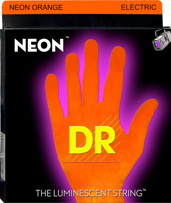 N0E-9 Neon Phosphorescent Electric Guitar Strings - Orange