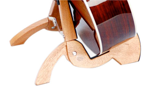 Cooperstand Wood Folding Guitar Stand Rear