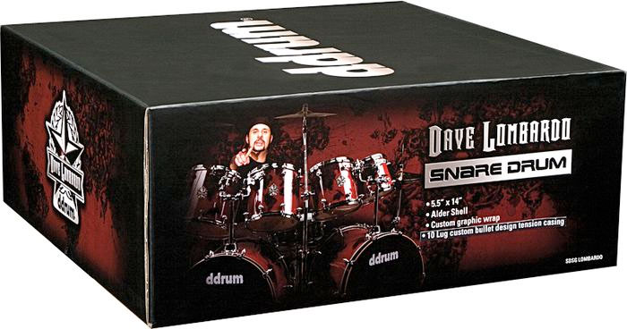 Ddrums Dave Lombardo Signature Snare drum Box