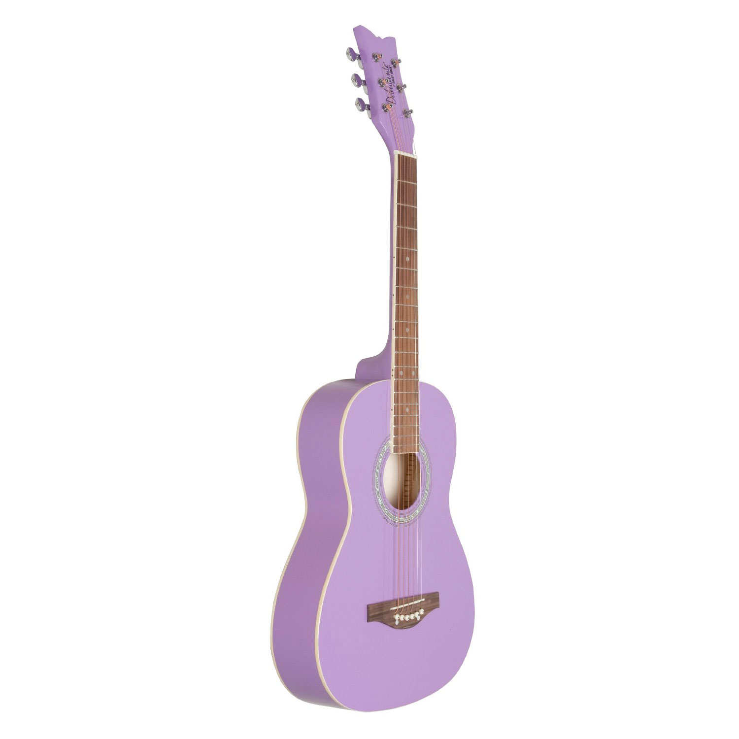 Daisy Rock Debutante Jr. Miss Acoustic Starter Pack - Popsicle Purple Angled Front View
