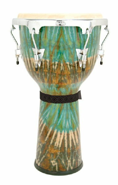 LP Aspire Accents Djembe Green Tie Dye