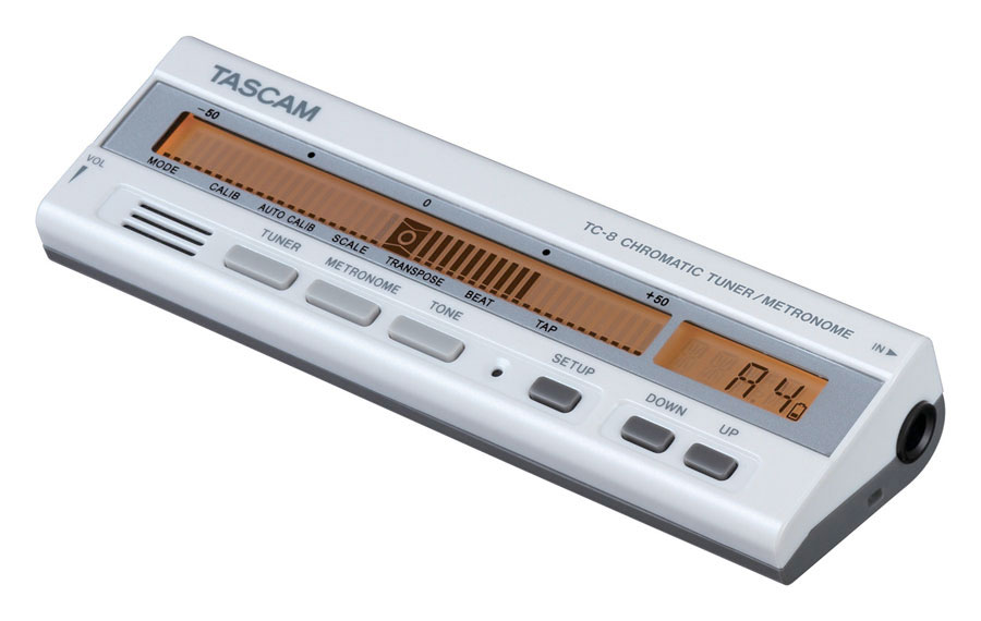 Tascam TC-8- White Angled View
