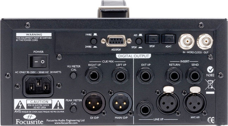 Focusrite ISA One Digital Rear View