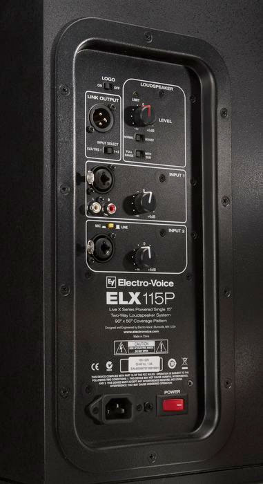 Electro Voice ELX115P Pair Rear View