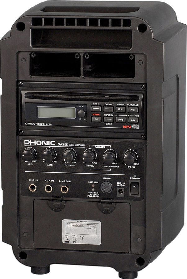 Phonic Sound Ambassador Deluxe Rear View