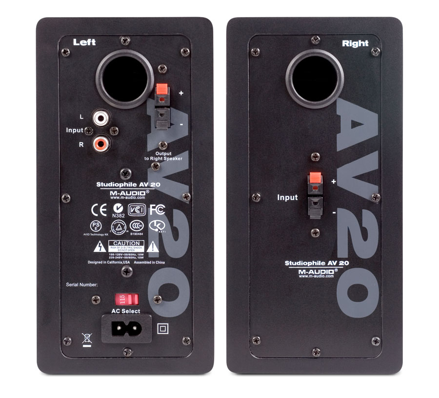 M-Audio AV20 Rear View