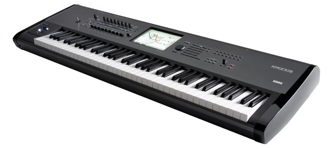 Korg Kronos 73 Refurbished Angled View