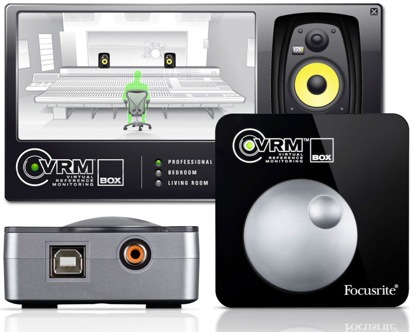 Focusrite VRM Box Front, Rear and Screenshot