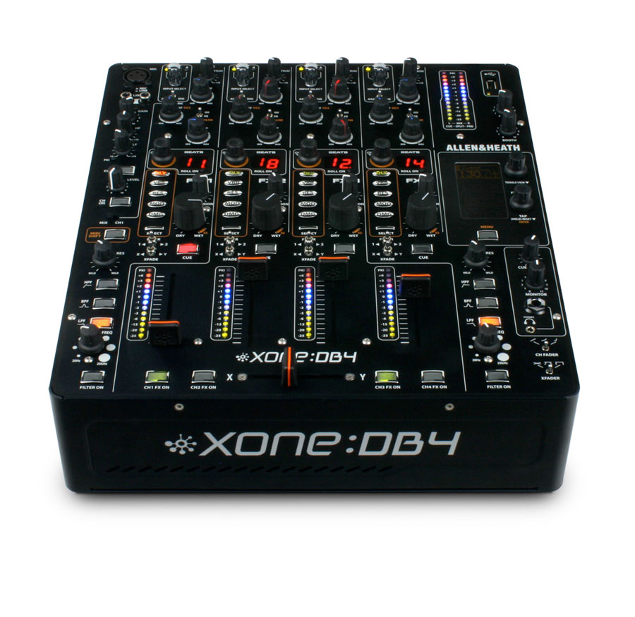 Allen Heath Xone:DB4 Angled Front View