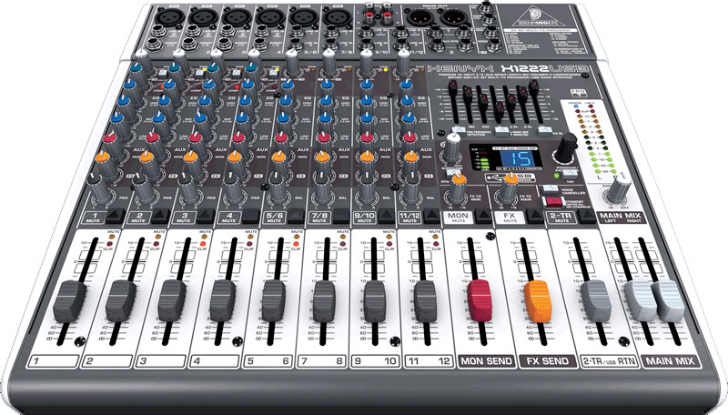 Behringer XENYX X1222USB Angled View