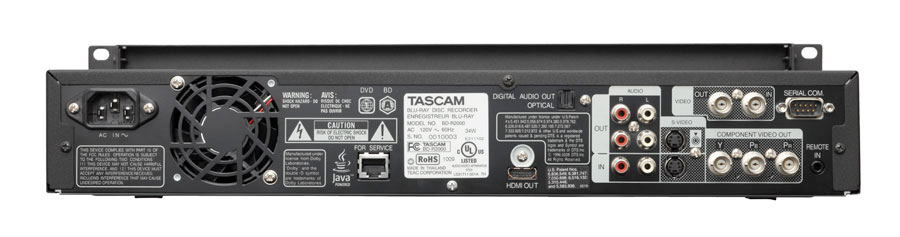 Tascam BDR2000 Rear View