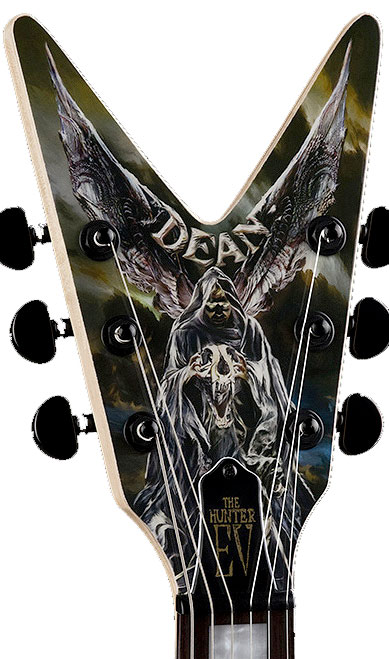 Dean Eric Peterson Hunter V Headstock Detail
