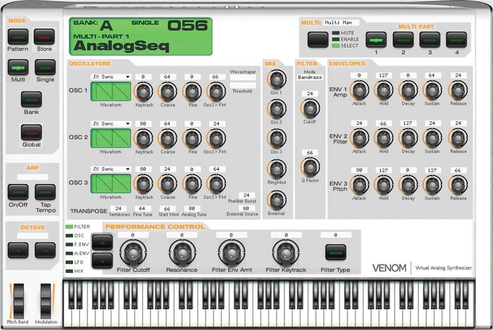 M-Audio Venom Synthesizer Screen Shot 1