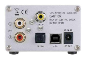 Firestone Audio Spitfire MK II 24 Bit DAC - Black Rear View