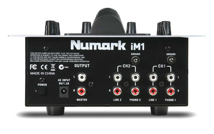 Numark iM1 Rear View