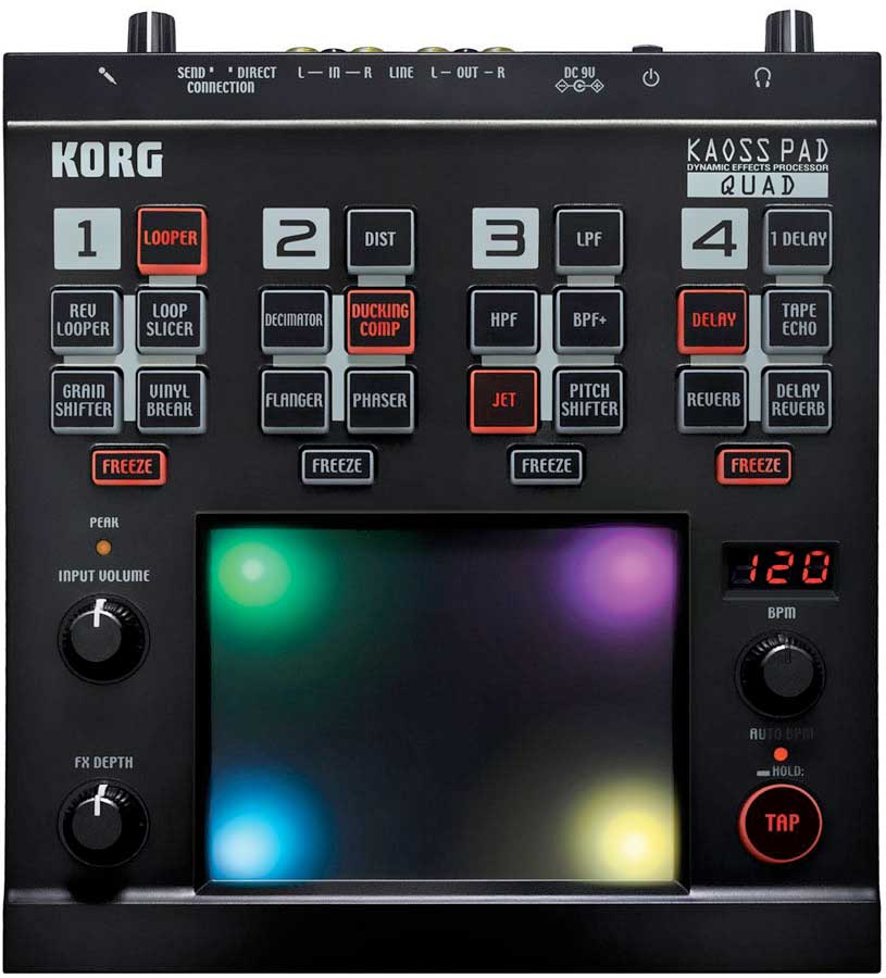 Korg Kaoss Pad Quad Top View