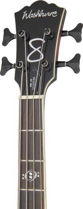 Washburn AB40SH Stu Hamm - Black Cherry Burst Headstock