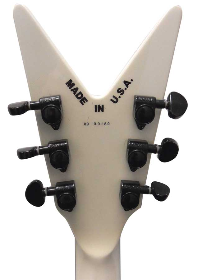 Dean USA 1000 V - Metallic White Rear Headstock