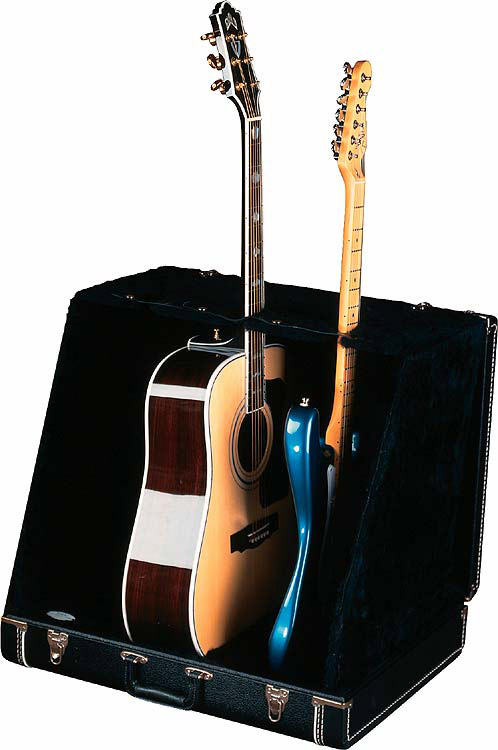 3 Guitar Case Stand - Black