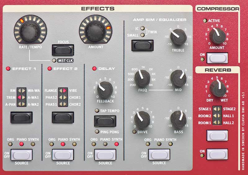 Nord NS2 Stage 2 HA 88-Key Effects