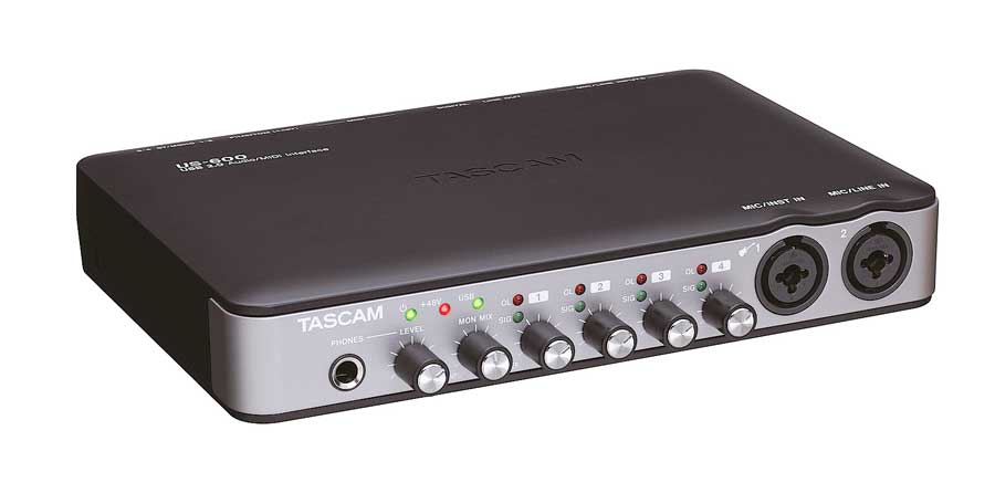 Tascam US-600 Left Angle