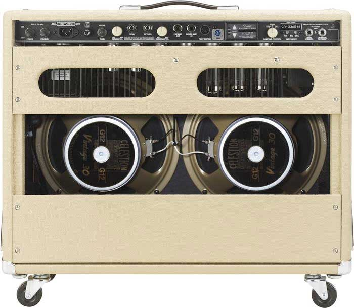 Fender Super Sonic™ Twin Combo Rear View in Blonde