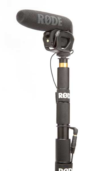 Rode VideoMic Pro On Boom Pole