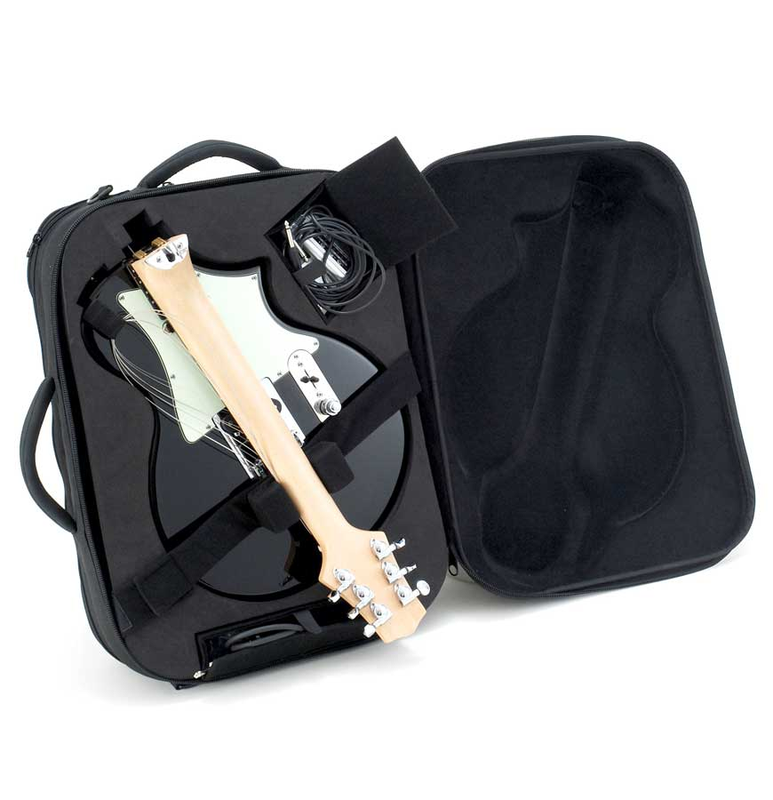 Voyage-Air Guitars TelAir Custom Lake Placid Blue Case In Black
