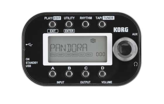 Korg PANDORA Mini Multi-Effect Processor Front Black