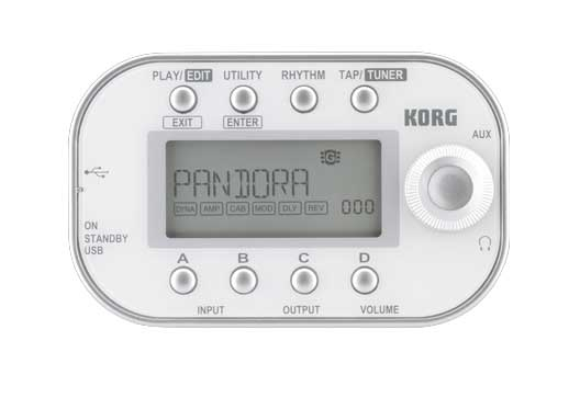 Korg PANDORA Mini Multi-Effect Processor Front White