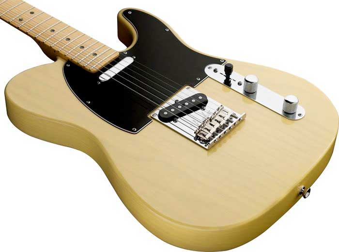 Fender 60th Anniversary Telecaster® - Blackguard Blonde Angled Body