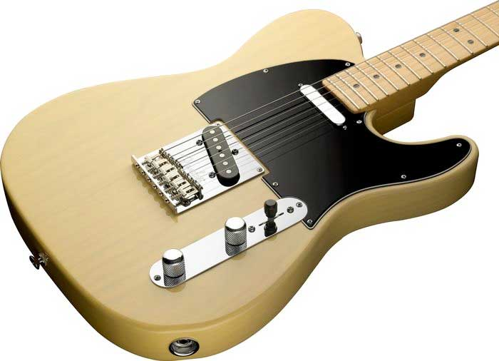 Fender 60th Anniversary Telecaster® - Blackguard Blonde Body Angle