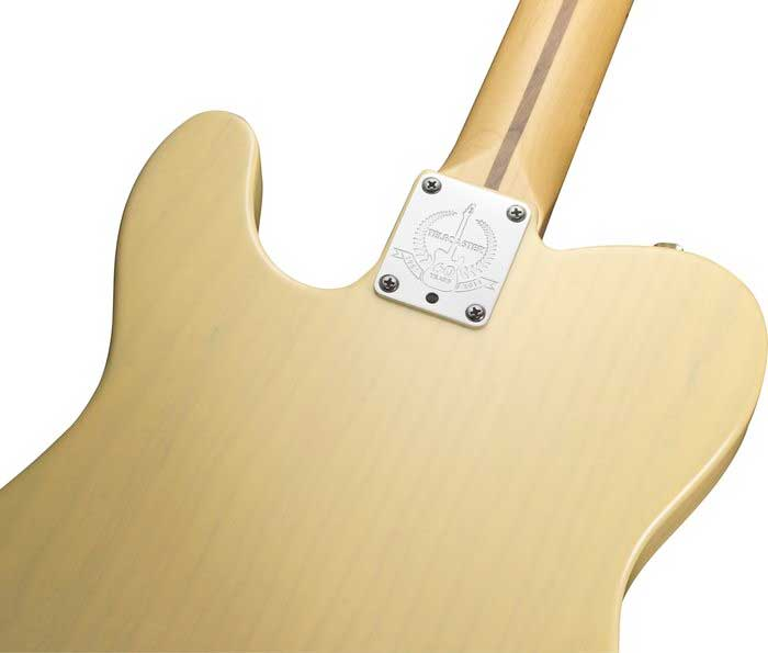 Fender 60th Anniversary Telecaster® - Blackguard Blonde Rear Body