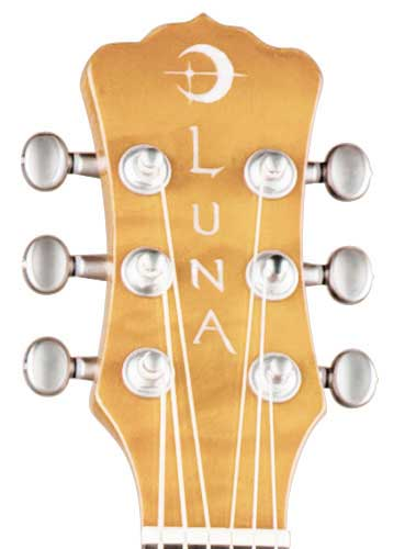 Luna Guitars Fauna Series Butterfly Headstock
