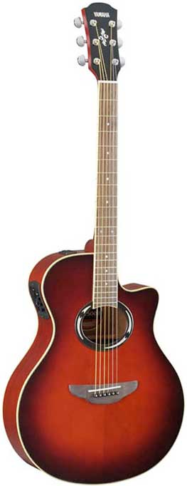 Yamaha APX500II Dark Red Sunburst