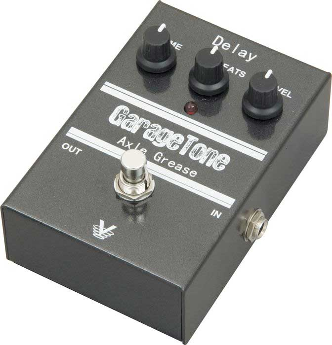 Visual Sound GarageTone Series Axle Grease Delay Angled View