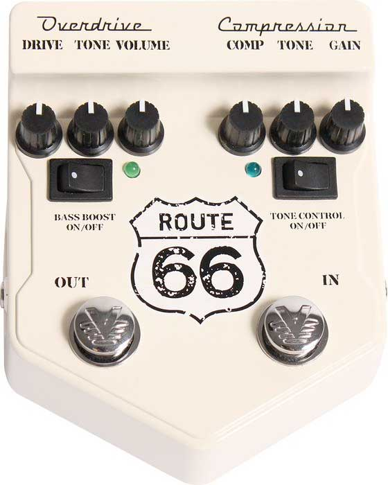Visual Sound Route 66 Overdrive and Compression Top View