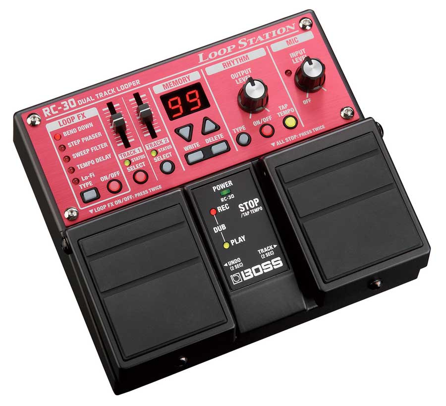 Boss RC-30 Angled View