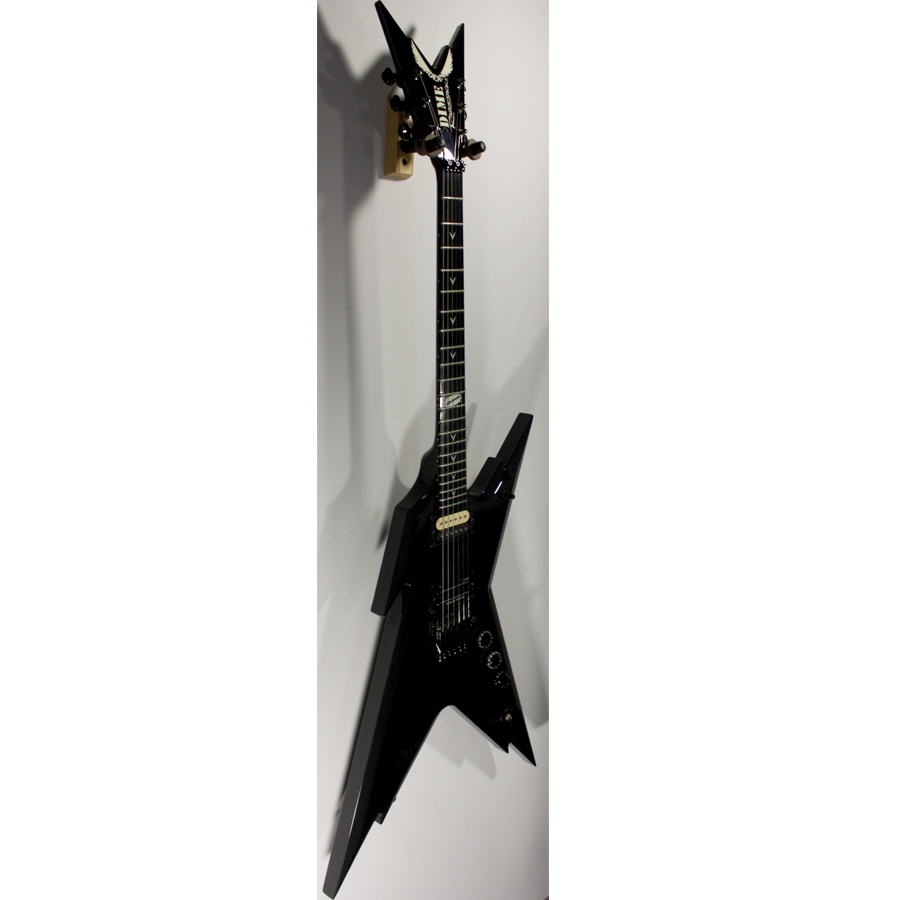 Dean USA Razorback Metallic Charcoal Blemished Angled View