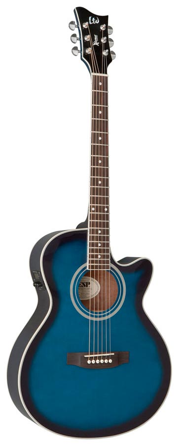 ESP LTD Xtone AC-5E See Thru Blue Sunburst