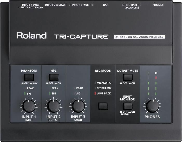 Roland UA-33 Tri-Capture Angled View