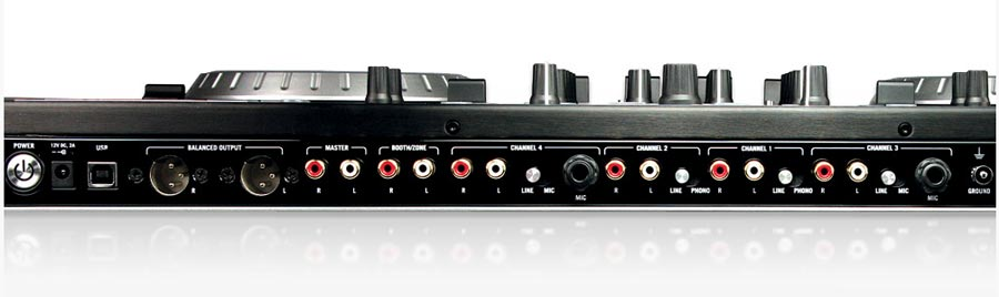 Numark NS6 Rear View